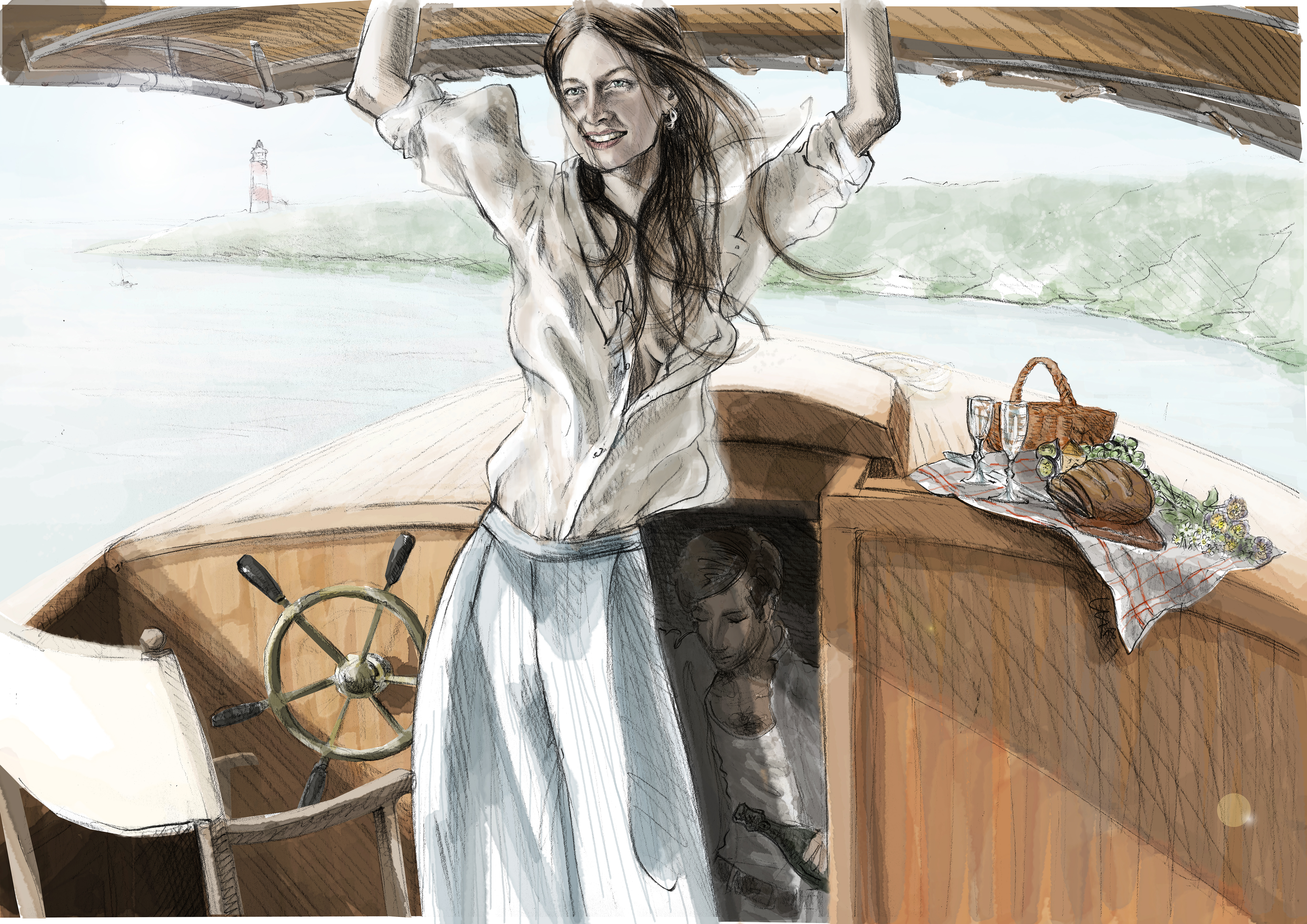 BELLE BAY | pencil on paper, digitally colored, © Christian Breil