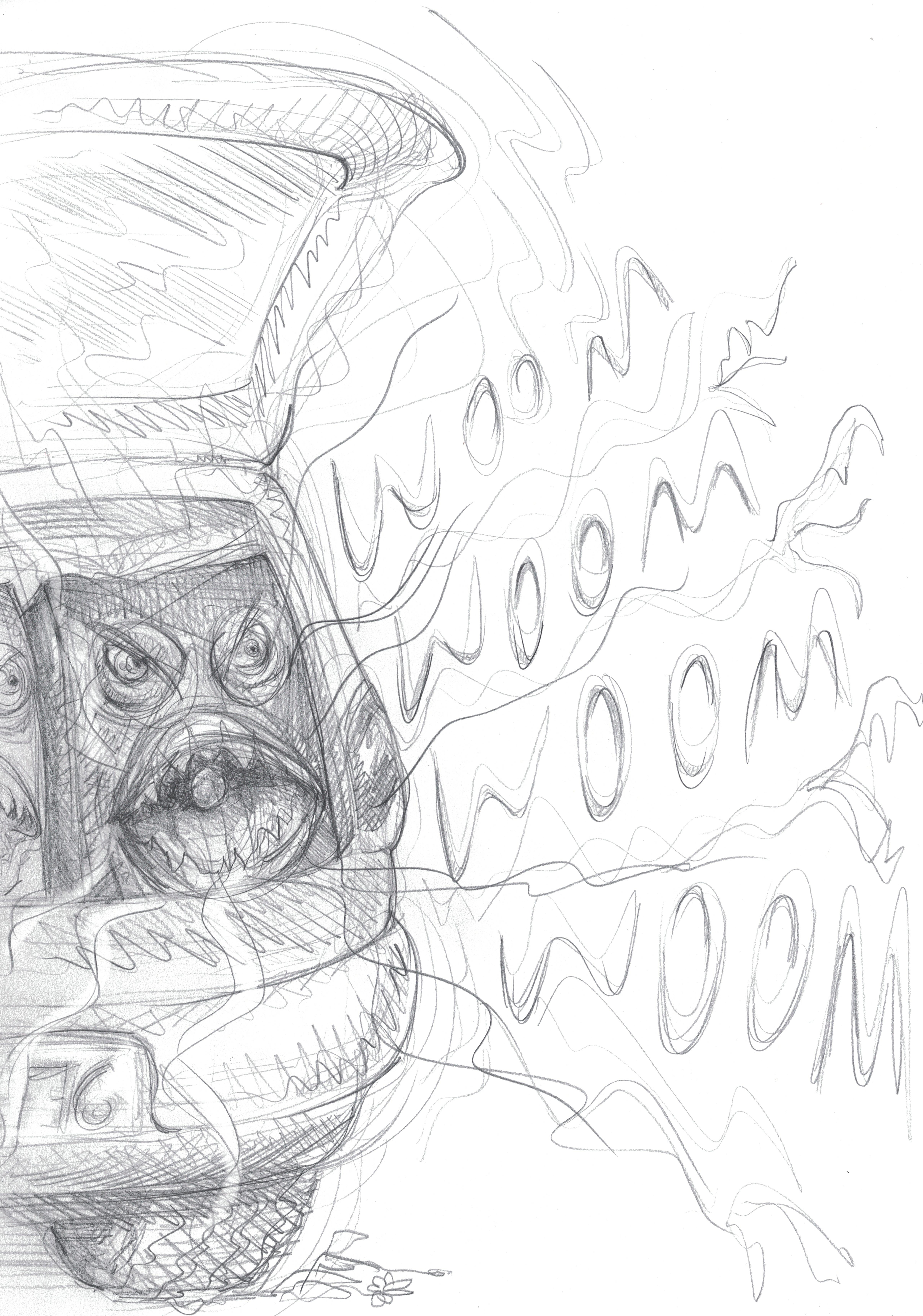 Evil Loudspeakers / pencil on paper