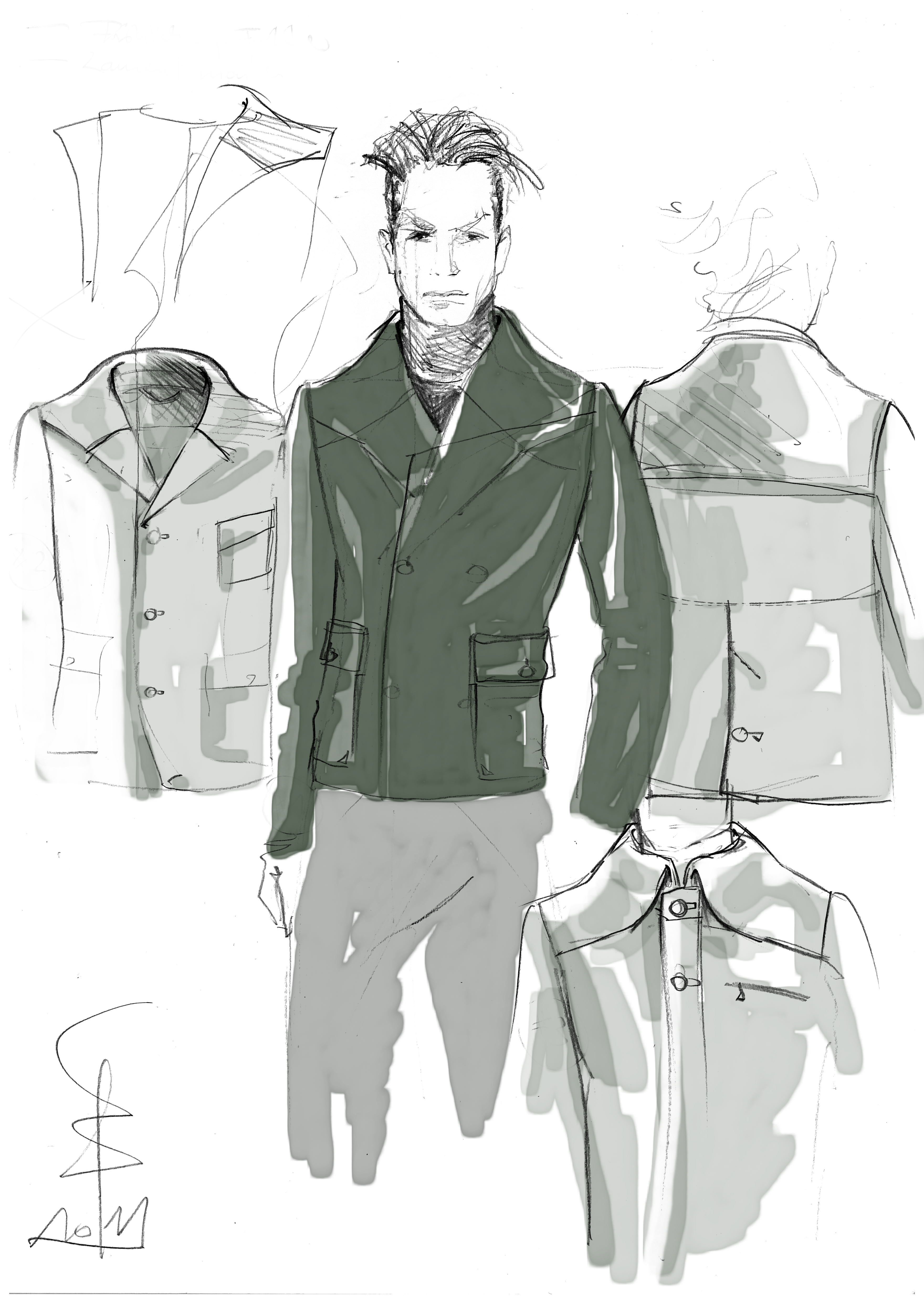 Jacket EIFEL | pencil on paper, digitally colored ©2011