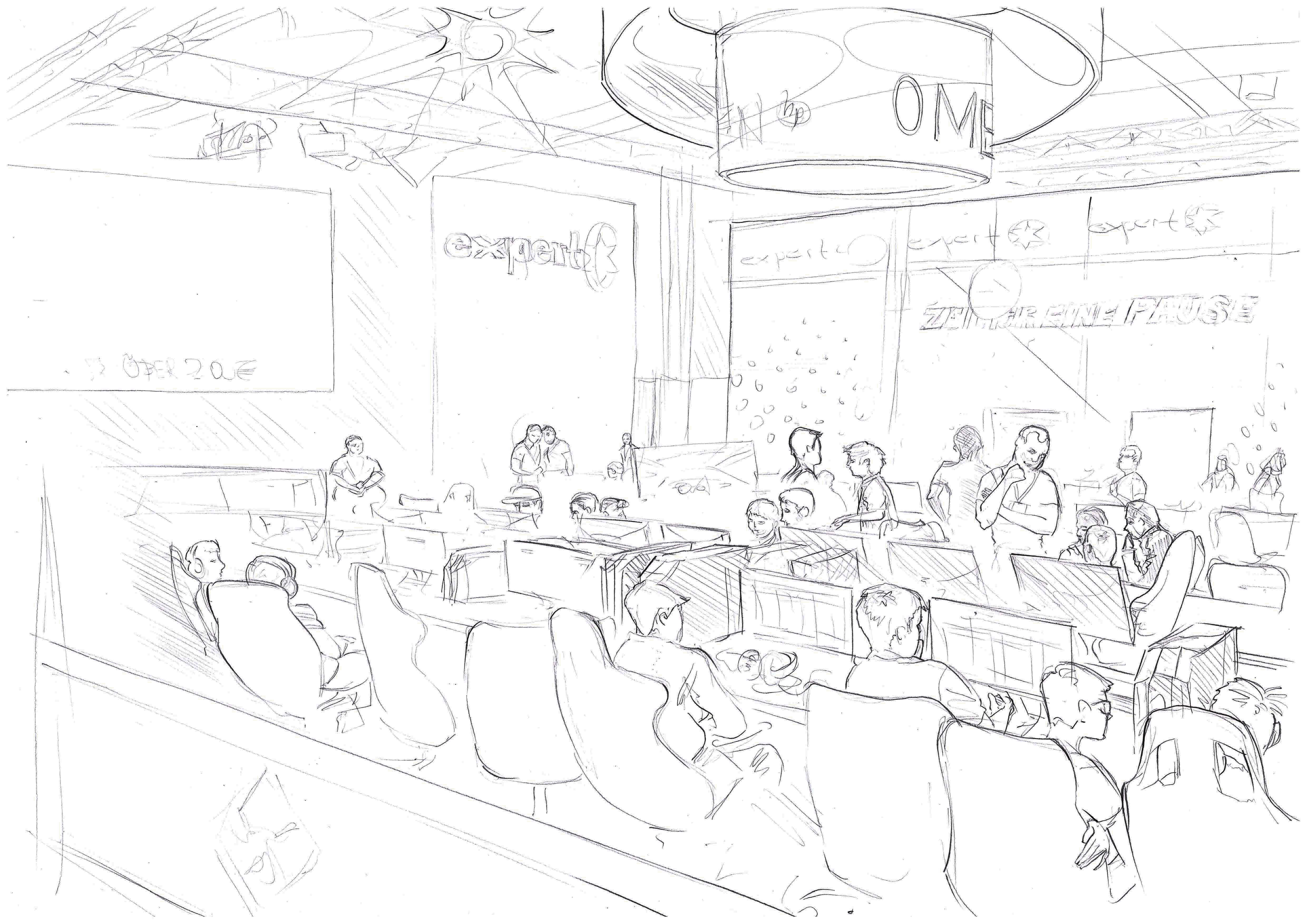 IFA 2018 KID'S COMMAND ROOM | pencil on paper
