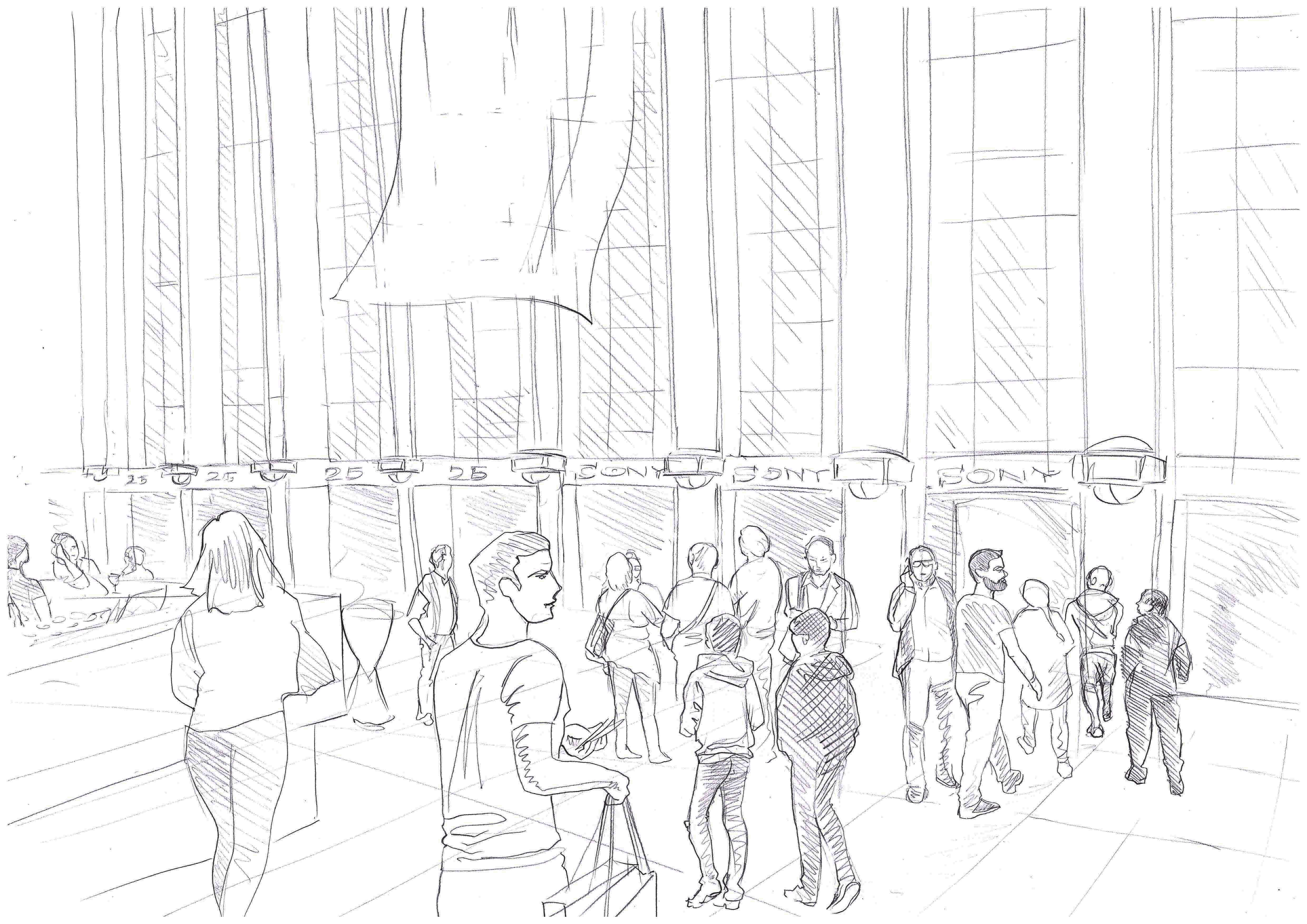 IFA 2018 ENTRANCE | pencil on paper
