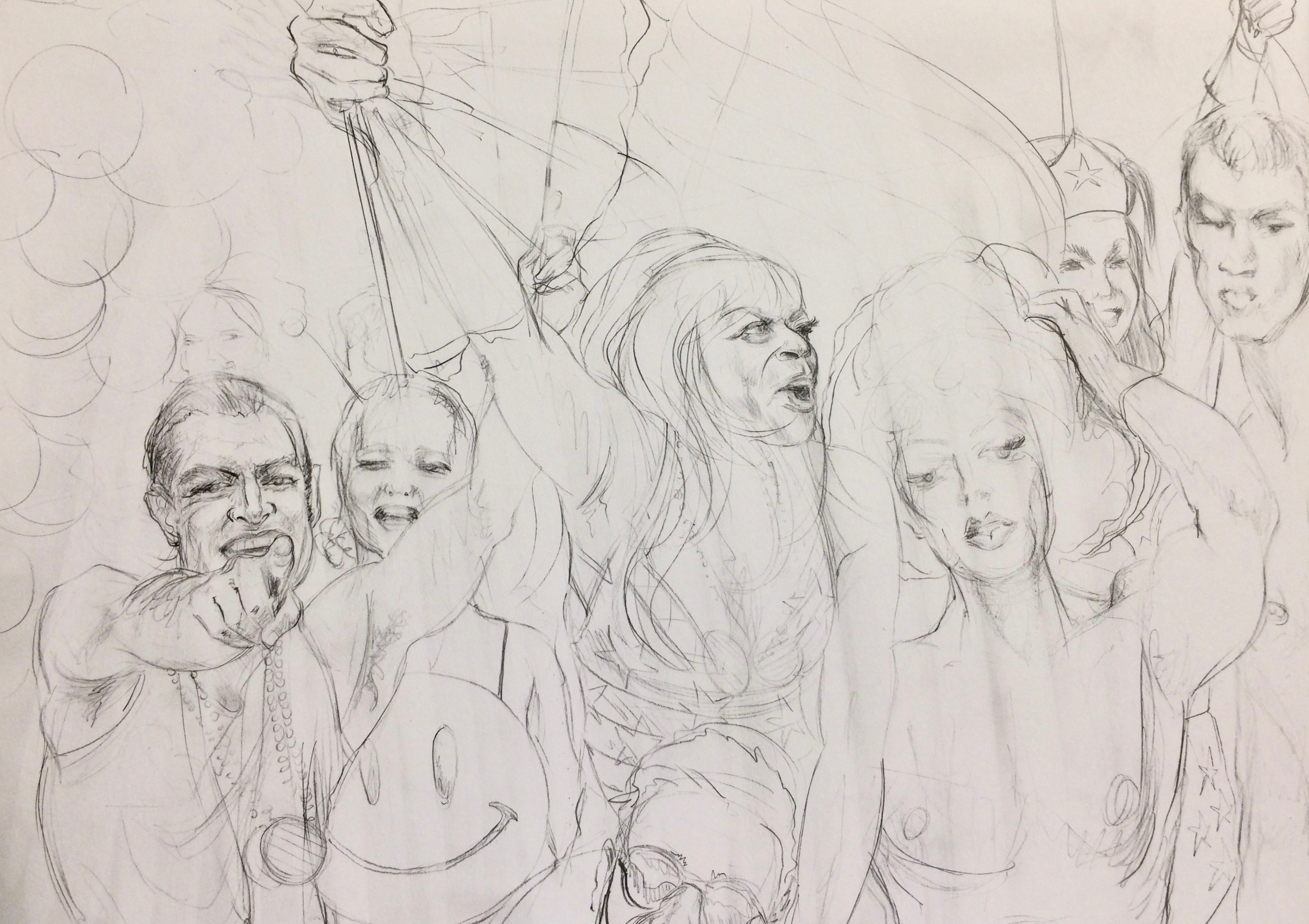 Rough sketch to PROUD REVOLUTON | pencil on paper ©2018