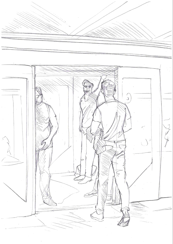BERLINER U-BAHN U3 | pencil on paper